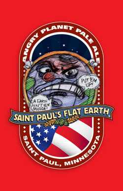 Flat Earth Angry Planet Pale Ale Image