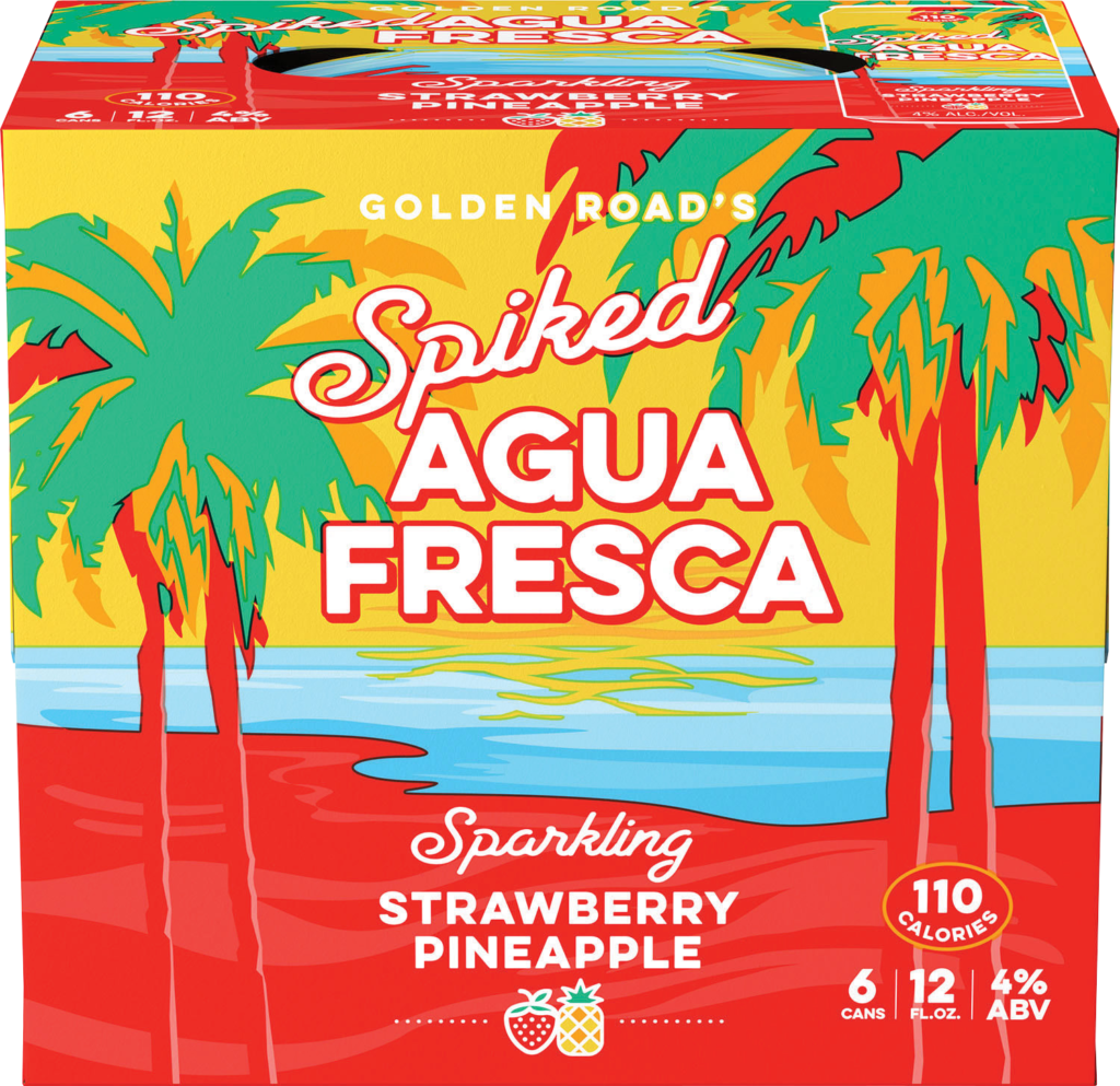 Spiked Agua Fresca Strawberry Pineapple Image